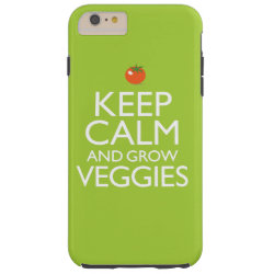 Case-Mate Barely There iPhone 6 Plus Case with Keep Calm and Grow Veggies design