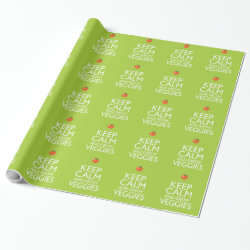 Glossy Wrapping Paper (15 foot roll) with Keep Calm and Grow Veggies design
