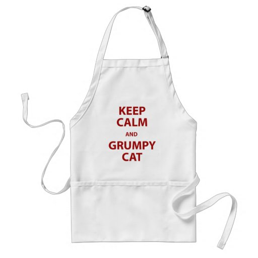 Keep Calm and Grumpy Cat Adult Apron
