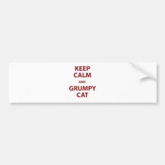 Keep Calm and Grumpy Cat Bumper Sticker
