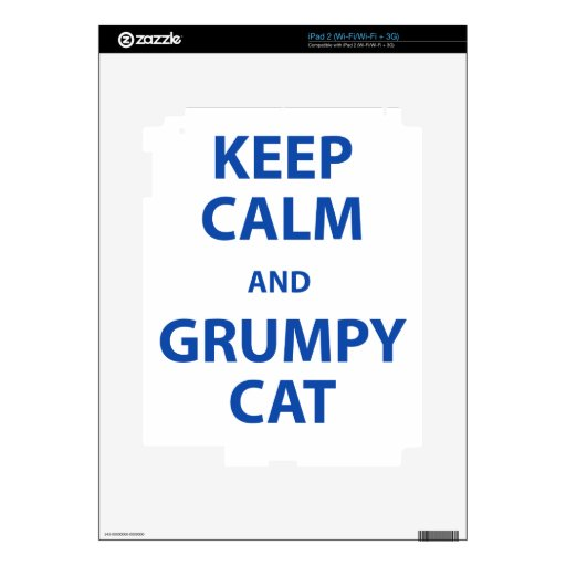 Keep Calm and Grumpy Cat Decals For The iPad 2