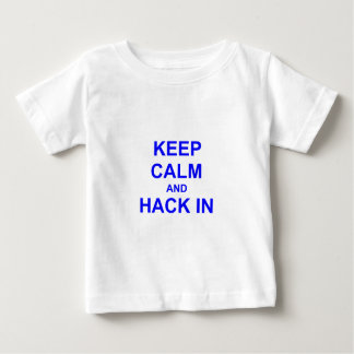 Keep Calm and Hack In gray blue black Shirt