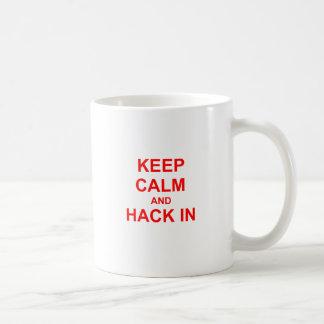 Keep Calm and Hack In red orange pink Coffee Mug