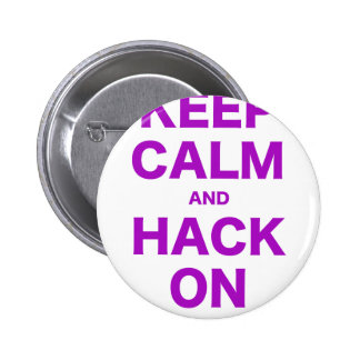 Keep Calm and Hack On Pinback Buttons
