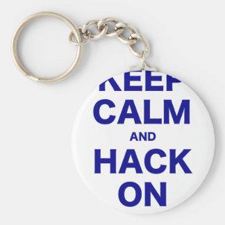Keep Calm and Hack On Keychain