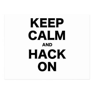 Keep Calm and Hack On Postcards