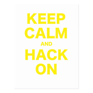 Keep Calm and Hack On Post Cards