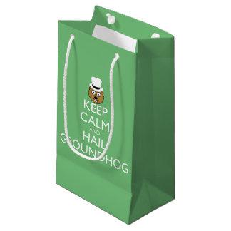 KEEP CALM AND HAIL GROUNDHOG SMALL GIFT BAG