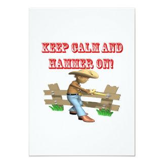 Keep Calm And Hammer On Card