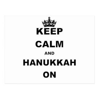 KEEP CALM AND HANUKKAH ON POSTCARD