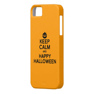 KEEP CALM AND HAPPY HALLOWEEN -.png iPhone 5 Cases