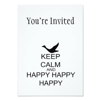 Keep Calm And Happy Happy Happy Card