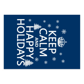 Keep Calm and Happy Holidays Business Card Template