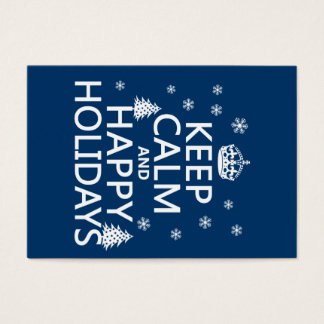 Keep Calm and Happy Holidays Business Card