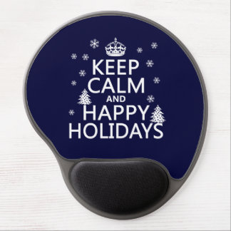 Keep Calm and Happy Holidays Gel Mouse Pad