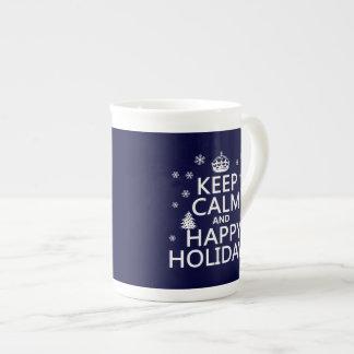 Keep Calm and Happy Holidays Porcelain Mugs