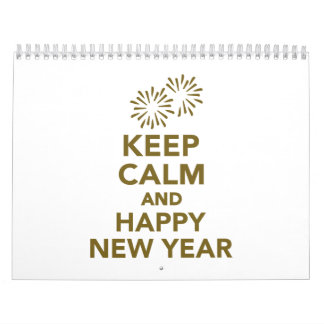 Keep calm and Happy New Year Calendar