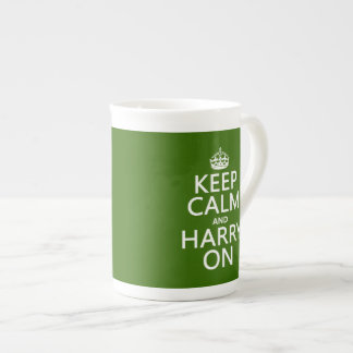 Keep Calm and Harry On (any background color) Tea Cup