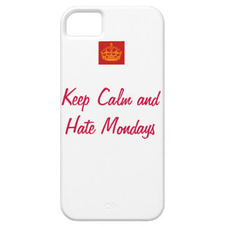 Keep Calm and Hate Mondays iPhone SE/5/5s Case