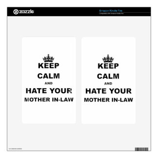 KEEP CALM AND HATE YOUR MOTHER IN LAW DECAL FOR KINDLE FIRE