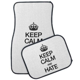 KEEP CALM AND HATE FLOOR MAT