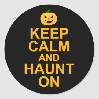 Keep Calm and Haunt On, Halloween Classic Round Sticker