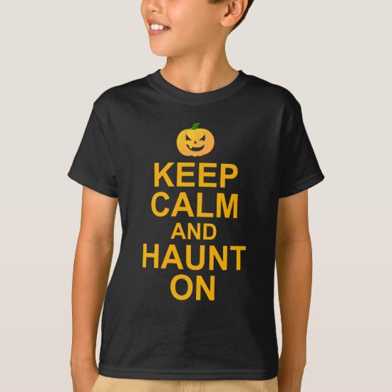Keep Calm and Haunt On, Halloween T-Shirt