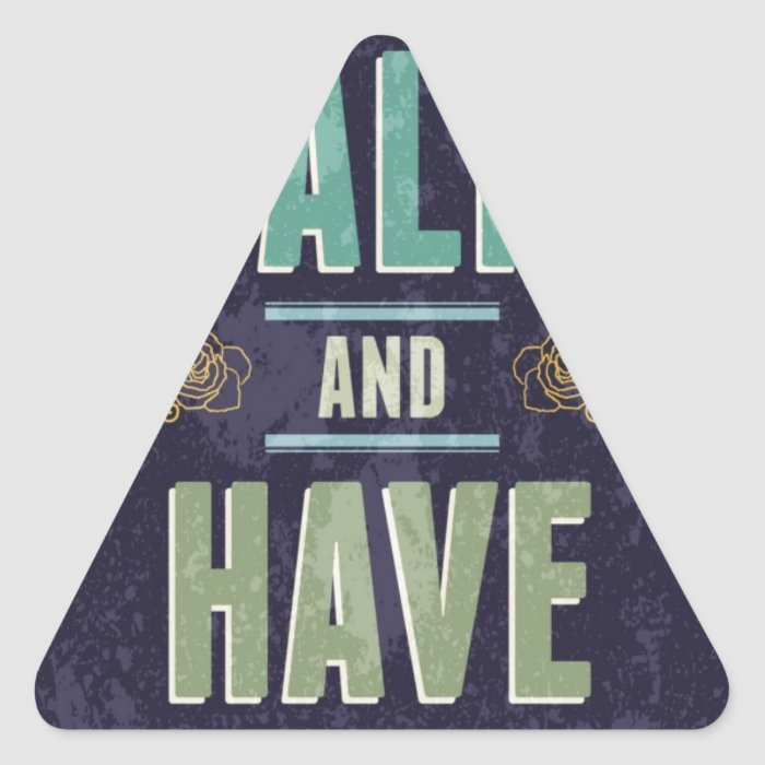 Keep Calm And Have A Beer Triangle Sticker