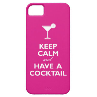 Keep Calm and Have A Cocktail (hot pink) iPhone 5 Case