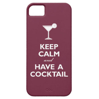 Keep Calm and Have A Cocktail (merlot) iPhone 5 Case
