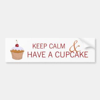 Keep Calm and Have a Cupcake Bumper Sticker