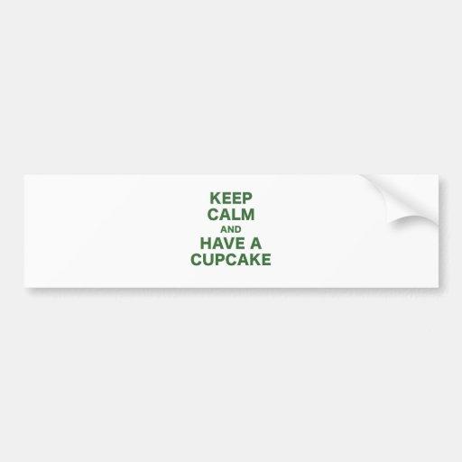 Keep Calm and Have a Cupcake Car Bumper Sticker