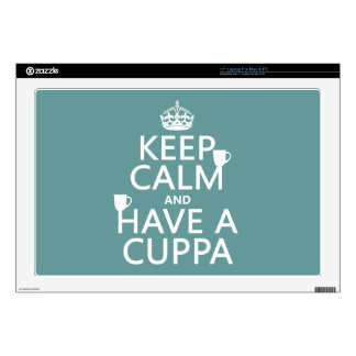 Keep Calm and Have a Cuppa - all colors Decal For Laptop