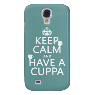 Keep Calm and Have a Cuppa - all colors Galaxy S4 Cover