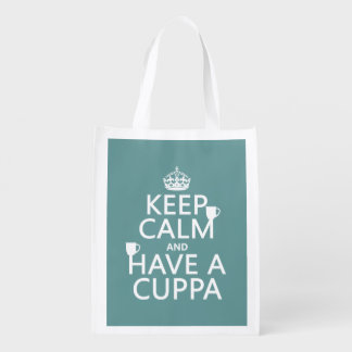 Keep Calm and Have a Cuppa - all colors Grocery Bag