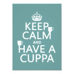 Keep Calm and Have a Cuppa - all colors 5.5x7.5 Paper Invitation Card