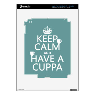 Keep Calm and Have a Cuppa - all colors iPad 3 Skin