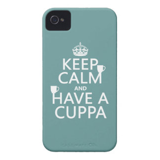 Keep Calm and Have a Cuppa - all colors iPhone 4 Case