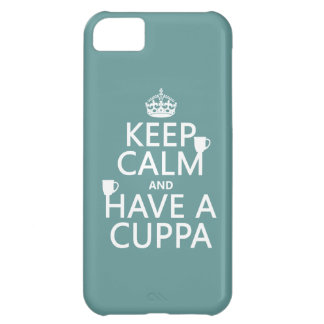 Keep Calm and Have a Cuppa - all colors iPhone 5C Case