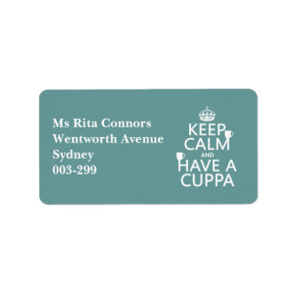 Keep Calm and Have a Cuppa - all colors Label