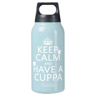 Keep Calm and Have a Cuppa - all colors Thermos Water Bottle