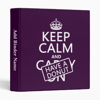 Keep Calm and Have a Donut Binder