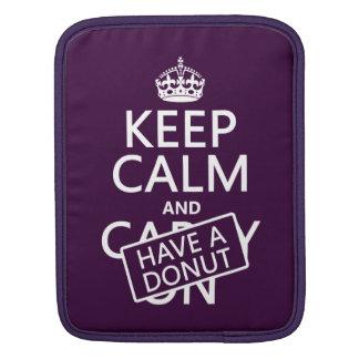 Keep Calm and Have a Donut iPad Sleeve