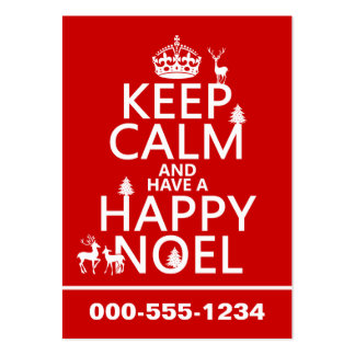 Keep Calm and Have A Happy Noel (christmas) Large Business Cards (Pack Of 100)