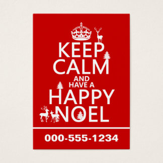 Keep Calm and Have A Happy Noel (christmas) Business Card