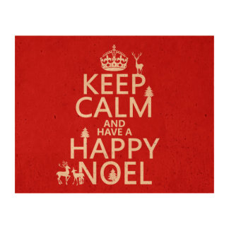 Keep Calm and Have A Happy Noel (christmas) Cork Paper Prints