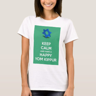 Keep calm and have a Happy Yom Kippur Jewish T-Shirt
