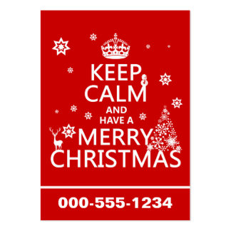 Keep Calm and Have A Merry Christmas (change color Large Business Card