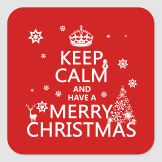 Keep Calm and Have A Merry Christmas change color Stickers