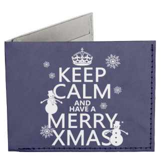 Keep Calm and Have A Merry Xmas (Christmas) Tyvek® Billfold Wallet